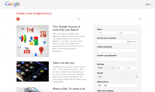 New Gmail Accounts Not Force the Creation of Profiles on Google+