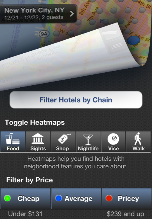 iPhone hotel filter 520x747 New Hipmunk app lets you search for the hottest hotels using heatmaps