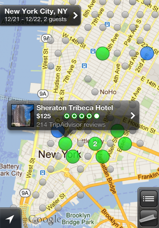 iPhone hotel select 520x747 New Hipmunk app lets you search for the hottest hotels using heatmaps