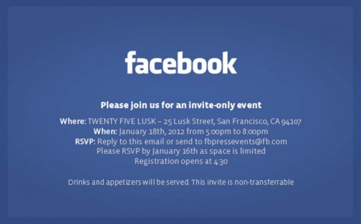 image001 520x323 Facebook press event in San Francisco to be held next Wednesday