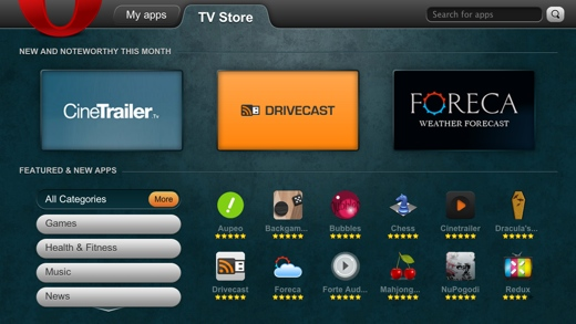 Opera Launches TV App Store - The Next Web