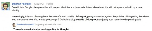 screenshot 2012 01 23 à 23.40.19 520x109 Google+ new name policy: Too little, too late