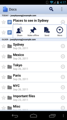 1 mobile offline Google Docs for Android gets offline support and a tablet refresh