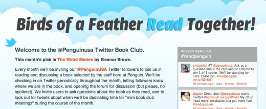 @Penguinusa Twitter Book Club Penguin Group USA 2 1 520x214 Book publisher Penguin takes to Twitter for unique book club experience