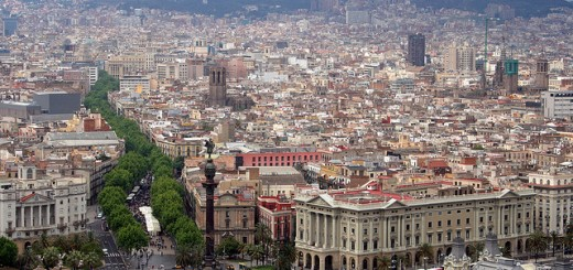 Barcelona overview by Bert Kaufmann