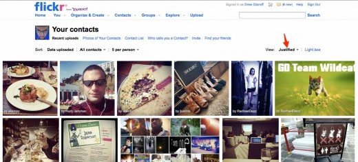 Convofy 146 2 520x235 Flickr starts rolling out its new design with Justified view for your contacts page