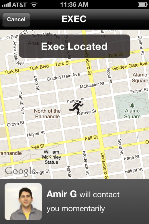 Exec Located 520x780 Giving a nod to Uber, Exec aims to be the outsourcing app for busy professionals