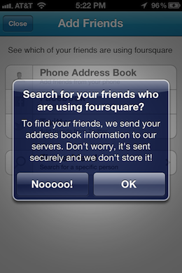 Foursquare2 What iOS apps are grabbing your data, why they do it and what should be done
