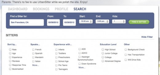 Search Results UrbanSitter 520x243 UrbanSitter leverages your social graph to find you a trustworthy babysitter