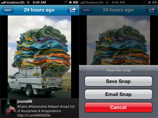 SnapNest2 iOS app SnapNest gives users access to realtime Twitter image search on the go