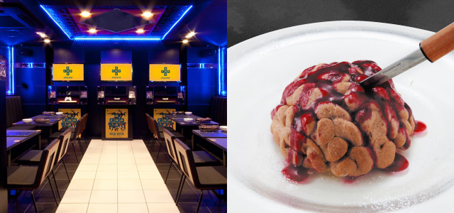 Video game-inspired restaurant lets you eat brains and drink vaccines