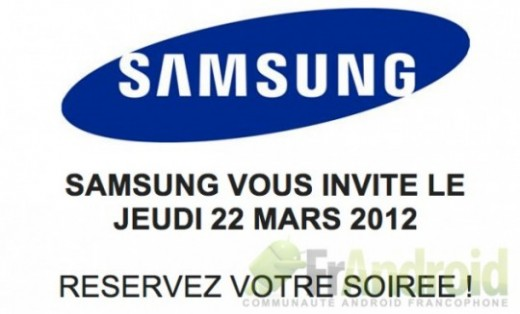 invite 520x314 Samsung confirms Galaxy S III will not launch at French event on March 22