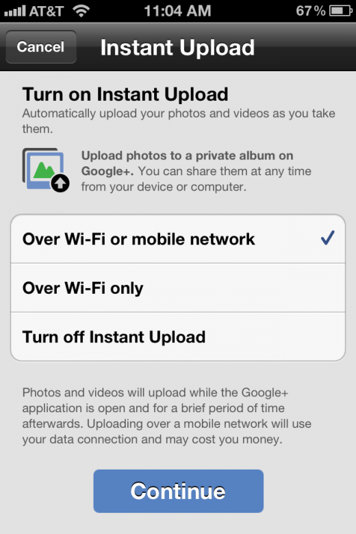 photo 141 520x780 Google+ for iOS gets Instant Upload for photos and videos