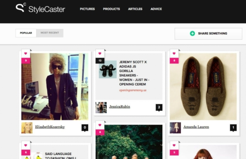 20120307143253ENPRNPRN STYLECASTER HOMEPAGE 90 1331130773MR StyleCaster wants to become the front page of the Internet... for fashion