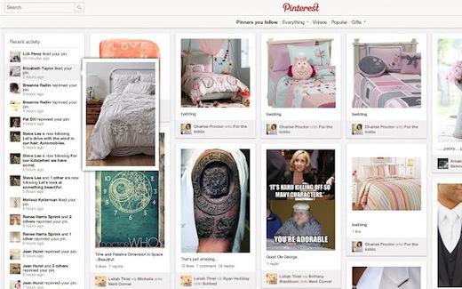 Pinterest Recent Activity Expander