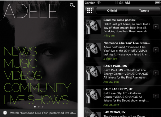 App Store Adele 520x377 The music industry is set for a marketing revolution as APIs go mainstream