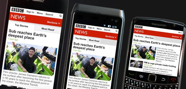 The BBC rolls out new 'responsive' mobile site, tailoring news layout to suit multiple devices ...