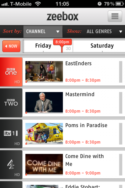 IMG 2134 520x780 Social TV app Zeebox updated to add channel customization, show reminders and more