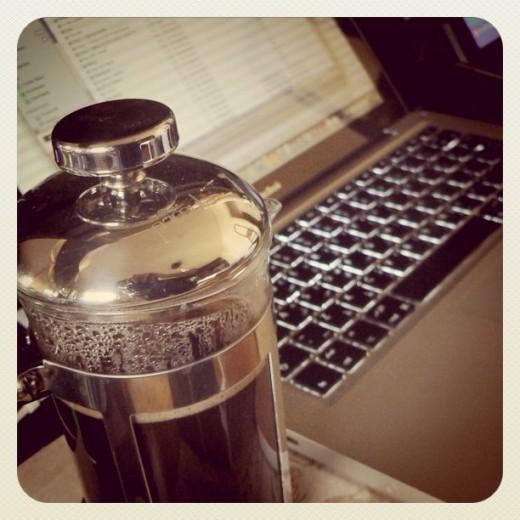 Obligatory pretentious coffee macbook Instagram shot