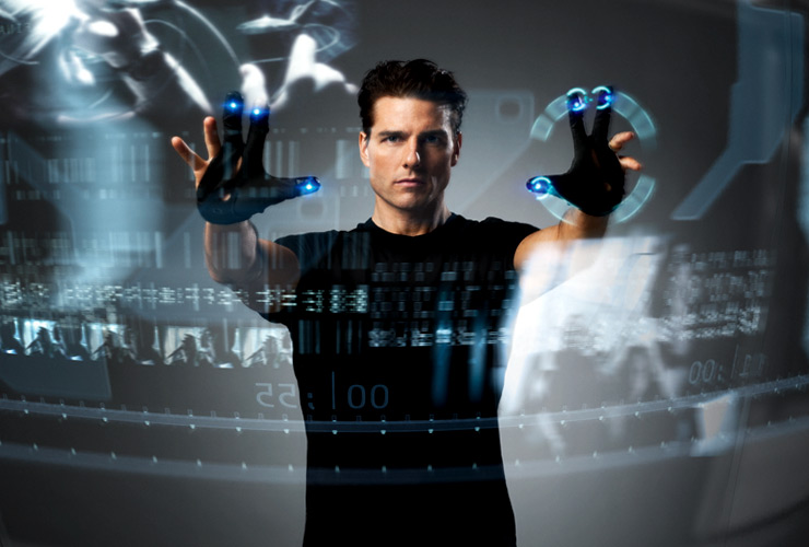 Transparent OLED display + Kinect = 3D interactive desktop