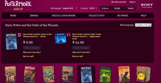 Potter 520x269 The wait is over: Harry Potter is finally available in e book format, as Pottermore opens its doors