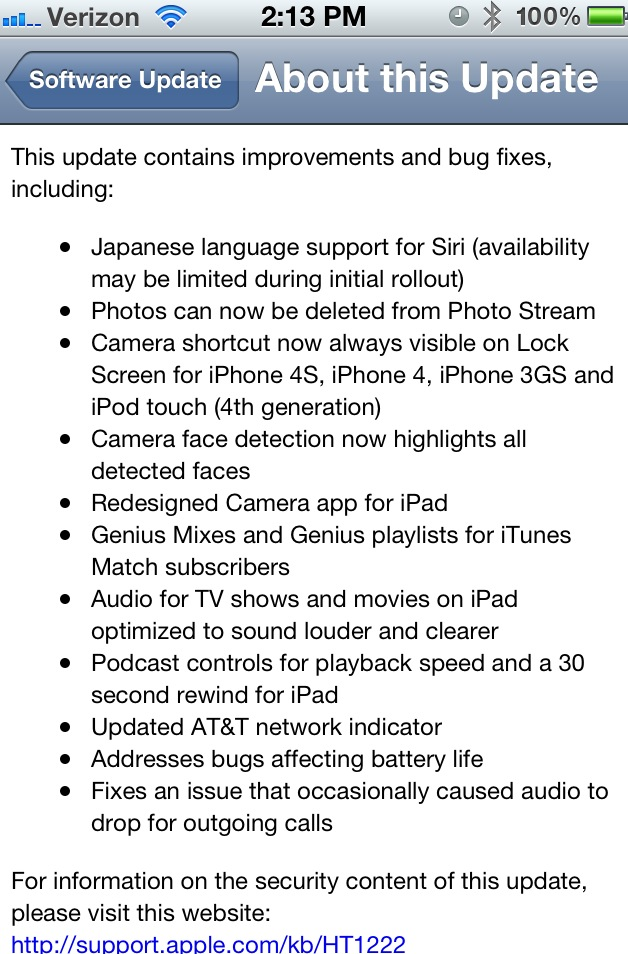 Apple Releases iOS 5 1 for the iPhone and iPad