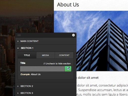 Sections Not just another About.me clone: Create gorgeous portable websites with Sidengo