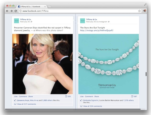 TiffanyFB How luxury brands are using social media