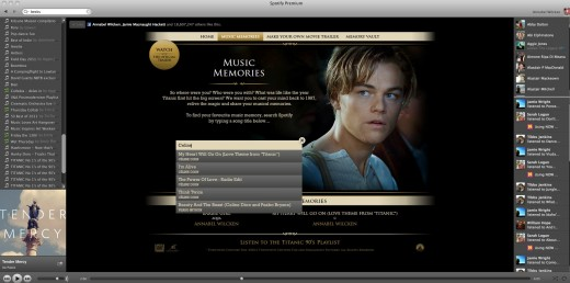 Titanic MusicMemories1 520x258 Titanic 3D: Spotify launches its first advertiser page across Europe with 20th Century Fox