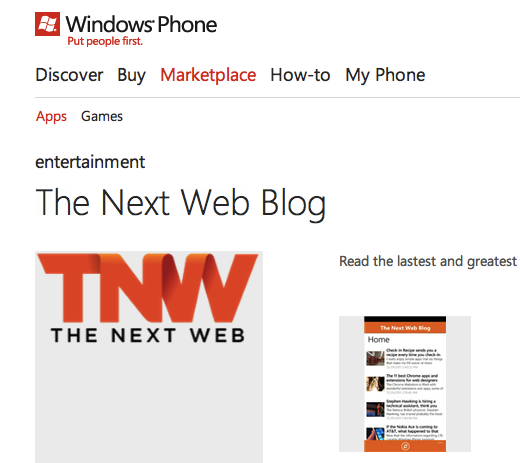 app free tnw Why the Windows Phone Marketplace is looking more like a slimy app cesspool every day