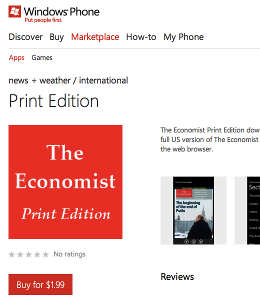app paid economist Why the Windows Phone Marketplace is looking more like a slimy app cesspool every day