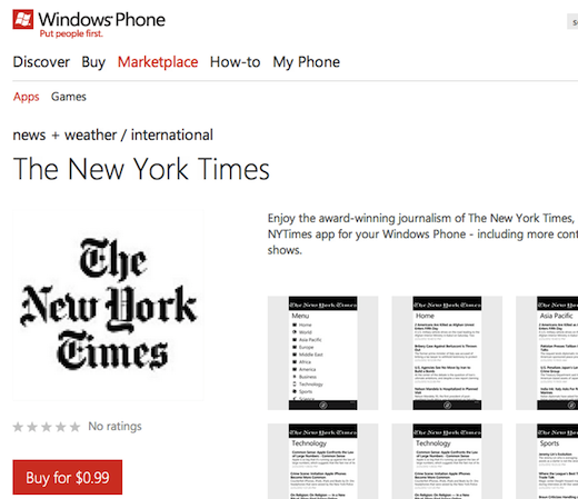 app paid nyt Why the Windows Phone Marketplace is looking more like a slimy app cesspool every day