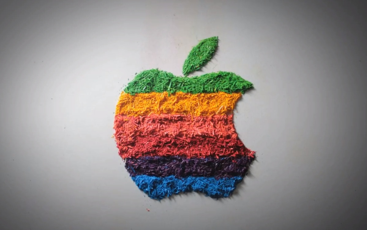 As Apple rediscovers its old logo, here's a colorful stop-motion tribute to the brand