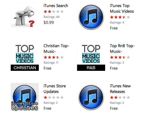 appslist itunes Why the Windows Phone Marketplace is looking more like a slimy app cesspool every day