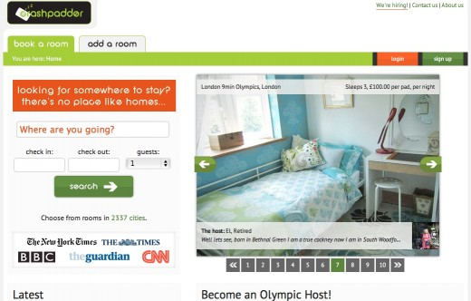 crashpadder 520x332 Airbnb acquires its British competitor Crashpadder just in time for the Olympics