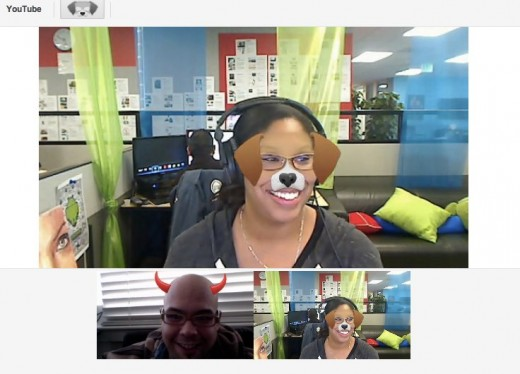 googlehangouts 520x374 Google+ adds new mask effects for Hangouts, so go turn yourself into a cat