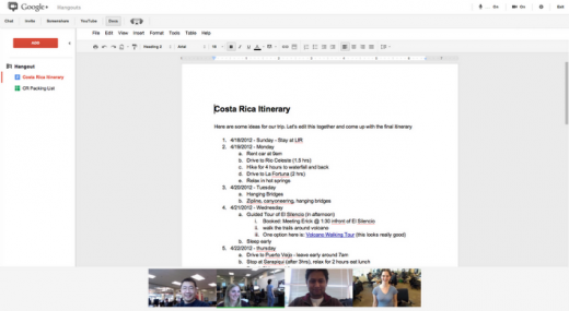 jointly launch 520x285 Google+ is becoming a beast for the workplace, Google Docs now available in Hangouts