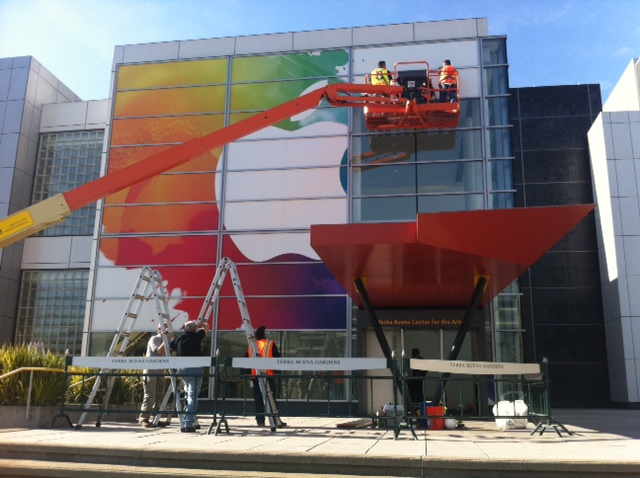 Apple's signage for the March 7th iPad 3 event is nearly complete [pictures]