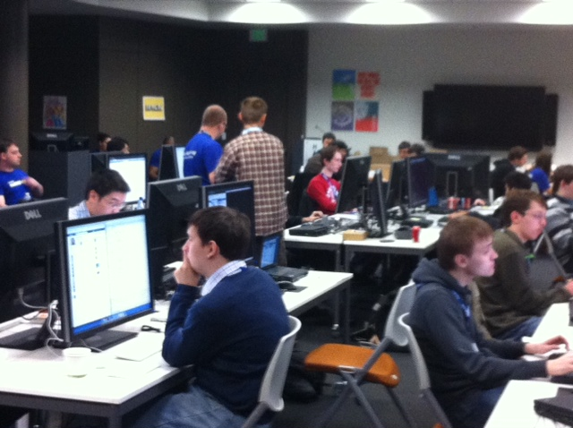The 2012 Facebook Hacker Cup competition is underway, and it's pretty intense