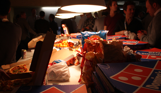 pizza London Startup Weekend has begun with 50 fresh pitches
