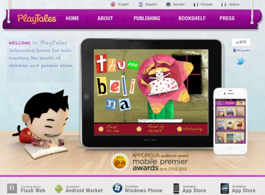 playtales écrans 520x384 PlayTales e bookstore for kids lets anyone develop and sell an interactive e book