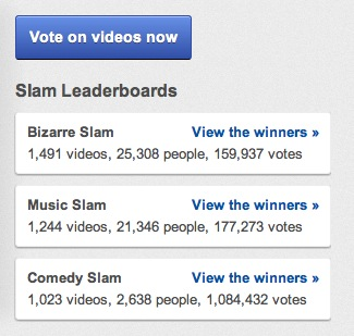 slam leaderboards YouTube Slam now lets you create your own video duels