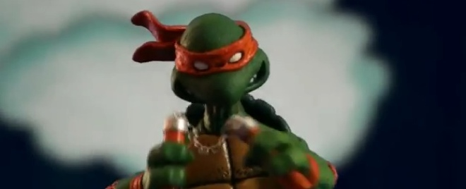 The Teenage Mutant Ninja Turtles intro, painstakingly recreated with stop motion animation
