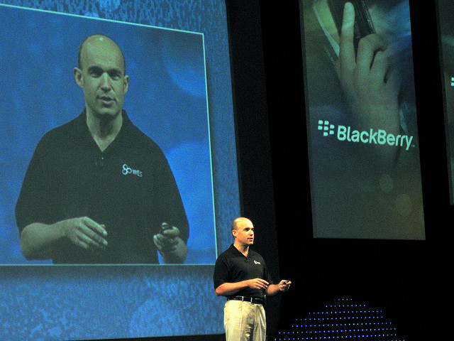 Former RIM co-CEO wanted rival devices to connect to BlackBerry networks before he left