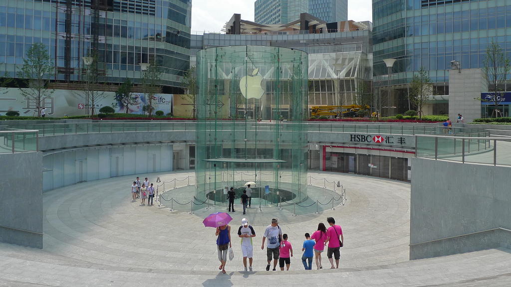 Apple out to patent curved glass panels used in Shanghai Retail Store