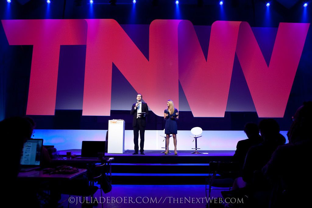 Want to sleep over at the TNW2012 stage? Rent it on Airbnb!