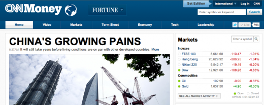 CNNMoney International edition 520x207 CNNMoney launches international homepage to go after global audiences
