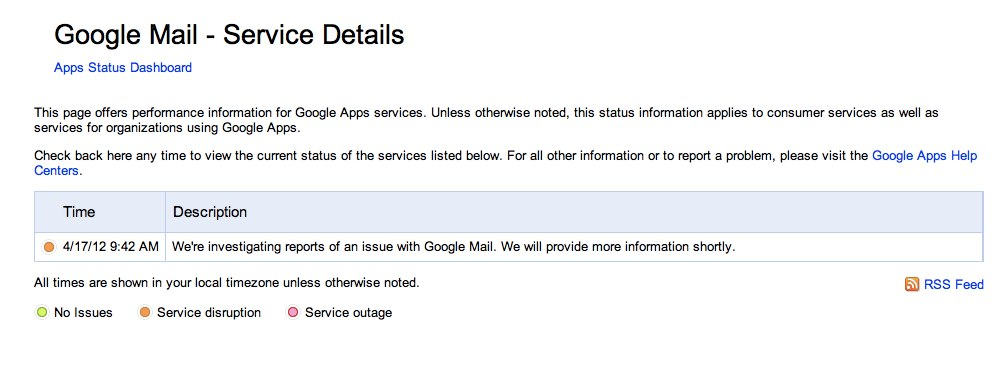 Google Confirms Issues with Google Mail