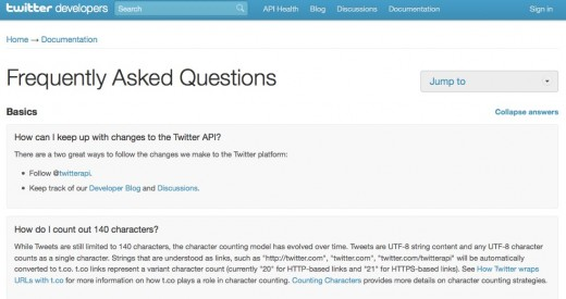 Frequently Asked Questions Twitter Developers 520x275 Twitter launches Frequently Asked Questions for developer community