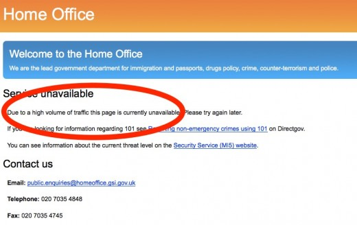 Home Office 520x328 Anonymous takes down UK Home Office site in response to extradition practices